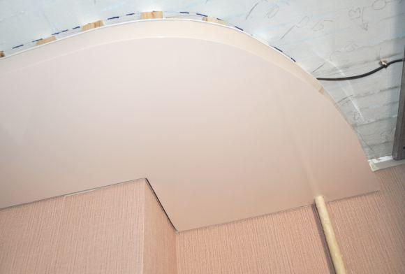 Как делается двухуровневый натяжной потолок