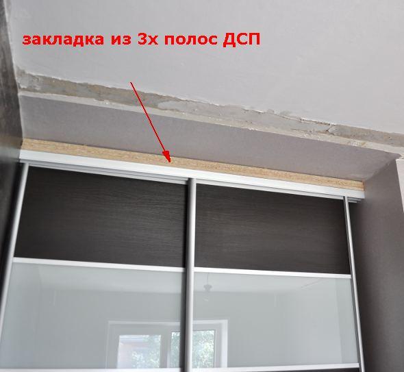 Как сделать шкаф на натяжной потолок 156